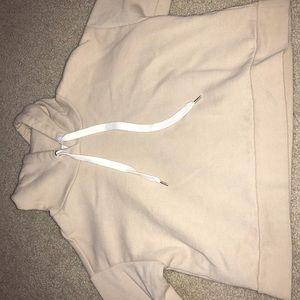 Cropped tan hoodie